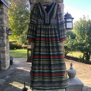Women's Long Sleeve Maxi Dress